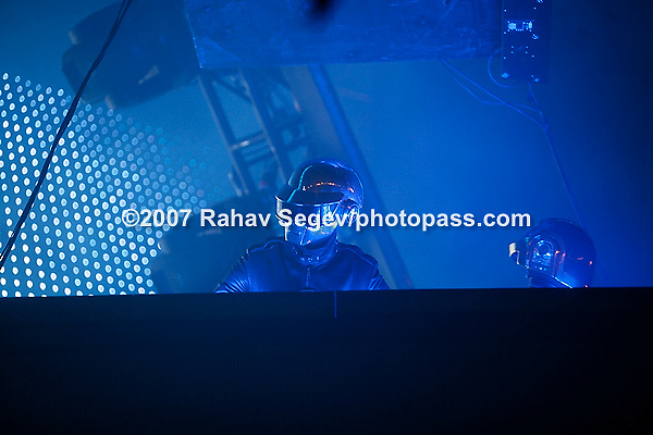 Daft Punk performing at Keyspan Park in Coney Island on August 9,2007.