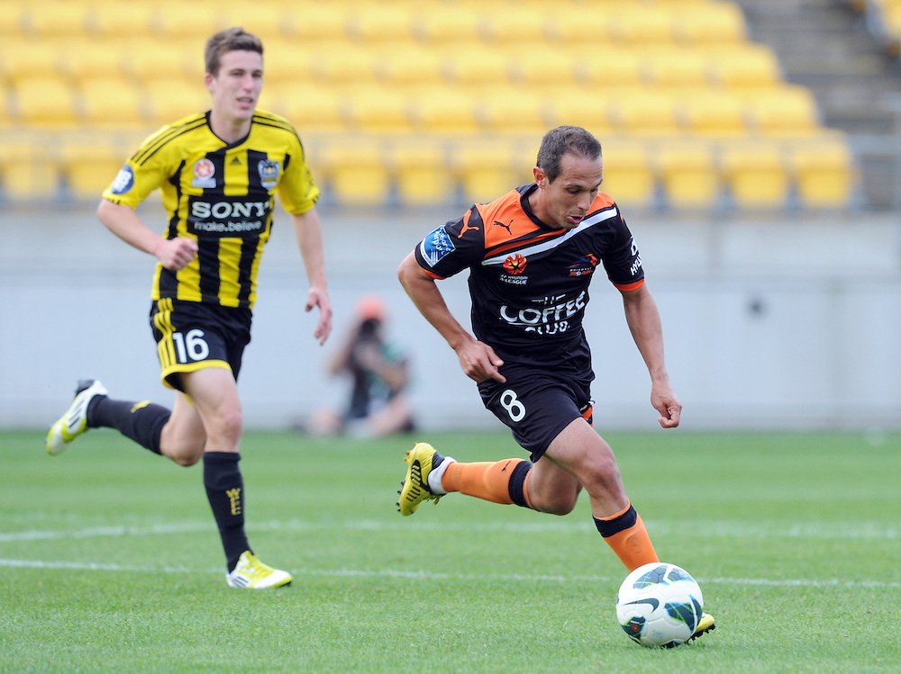 Phoenix's Massimo Murdocca against the Phoenix in the A-League football match at Westpac Stadium, Wellington, New Zealand, Sunday, October 21, 2012. Credit:SNPA / Ross Setford
