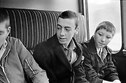 Symond and Others, on the train, UK, 1980s.