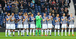 A minutes applause is held for former footballer Ray Wilkins who passed away - Mandatory by-line: Nizaam Jones/JMP - 07/04/2018 - FOOTBALL - The Hawthorns - West Bromwich, England- West Bromwich Albion v Swansea City - Premier League