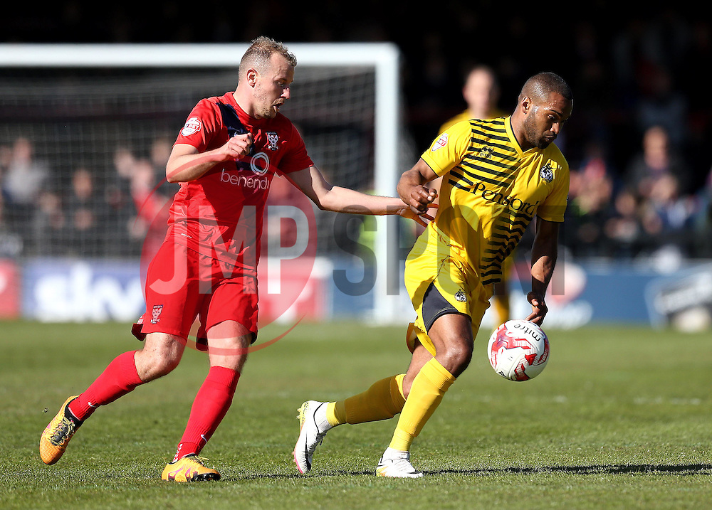 Jermaine Easter of Bristol Rovers runs with the ball - Mandatory by-line: Robbie Stephenson/JMP - 30/04/2016 - FOOTBALL - Bootham Crescent - York, England - York City v Bristol Rovers - Sky Bet League Two