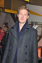 Actor SAM HOARE at the unveiling of the Helena Christensen and Swarovski Crystallized Unsigned Model search winners held at Swarovski Crystallized, 24 Great Marlborough Street, London on 26th January 2012.