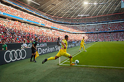 August 1, 2017 - Munich, Germany - Faouzi Ghoulam of Napoli in action during the Audi Cup 2017 match between Club Atletico de Madrid and SSC Napoli at Allianz Arena on August 1, 2017 in Munich, Germany. (Credit Image: © Paolo Manzo/NurPhoto via ZUMA Press)