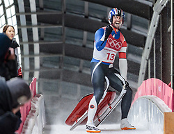 11.02.2018, Olympic Sliding Centre, Pyeongchang, KOR, PyeongChang 2018, Rodeln, Herren, 4. Lauf, im Bild Chris Mazdzer (USA, 2. Platz) // silver medalist Chris Mazdzer of the USA during the Men's Luge Singles Run 4 competition at the Olympic Sliding Centre in Pyeongchang, South Korea on 2018/02/11. EXPA Pictures © 2018, PhotoCredit: EXPA/ Johann Groder