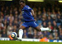 Photo: Alan Crowhurst.<br />Chelsea v Manchester City. The Barclays Premiership. 25/03/2006. Michael Essien shoots at goal.