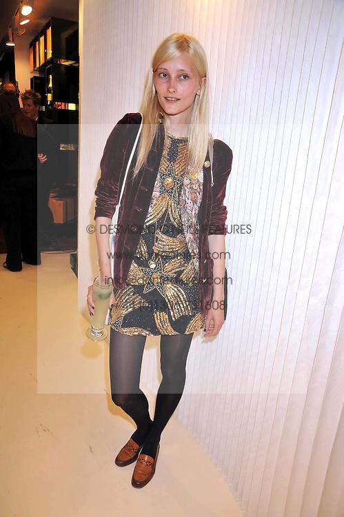 LEKELIENE STRANGE at a dinner in honour of design label Rodarte held at the Fifth Floor Restaurant, Harvey Nichols, Knightsbridge, London on 3rd June 2009.