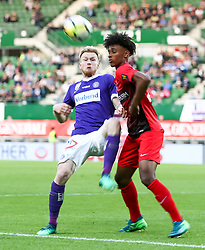 05.05.2018, Ernst Happel Stadion, Wien, AUT, 1. FBL, FK Austria Wien vs FC Flyeralarm Admira, 33. Runde, im Bild Kevin Friesenbichler (FK Austria Wien), Maximilian Sax (FC Flyeralarm Admira) // during Austrian Football Bundesliga Match, 33rd Round, between FK Austria Vienna and FC Flyeralarm Admira at the Ernst Happel Stadion, Vienna, Austria on 2018/05/05. EXPA Pictures © 2018, PhotoCredit: EXPA/ Alexander Forst