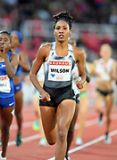 Ajee Wilson (USA) wins the women's 800m in 2:00.87 during the Bauhaus-Galan in a IAAF Diamond League meet at Stockholm Stadium in Stockholm, Sweden on Thursday, May 30, 2019. (Jiro Mochizuki/Image of Sport)