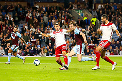 Ashley Barnes of Burnley shoots at goal - Mandatory by-line: Robbie Stephenson/JMP - 30/08/2018 - FOOTBALL - Turf Moor - Burnley, England - Burnley v Olympiakos - UEFA Europa League Play-offs second leg