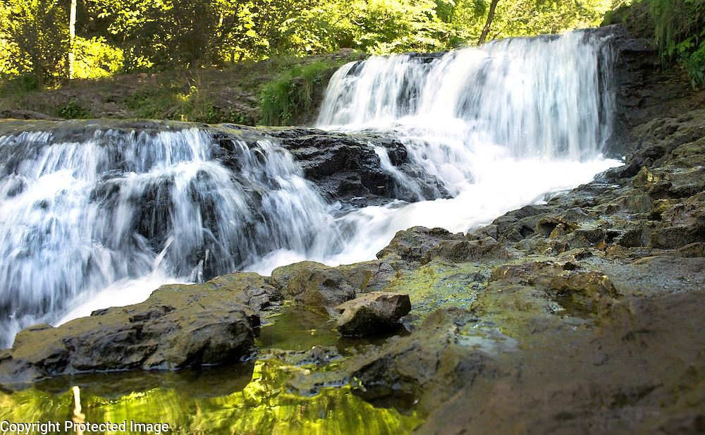 The falls at River Falls, Wisconsin