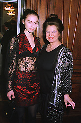 Left to right, MISS PETRINA KHASHOGGI and her mother MRS SORAYA KHASHOGGI former wife of the Middle Eastern arms dealer, at a wedding in London on 6th December 1997.MED 30