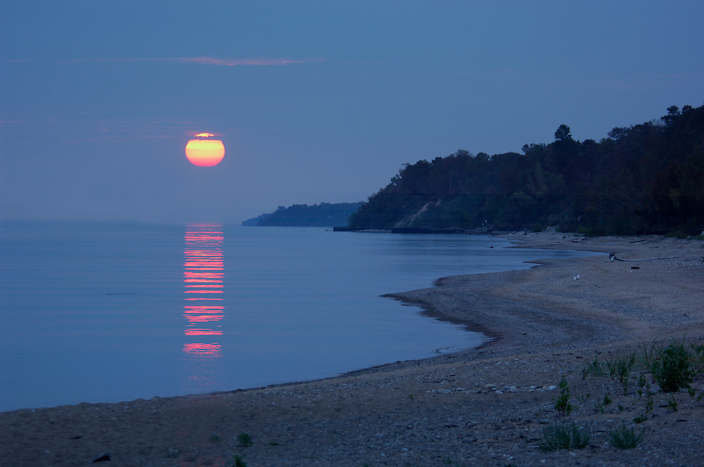 Sunset, Lake Huron, Bayfield, Lake Huron, Ontario, Canada