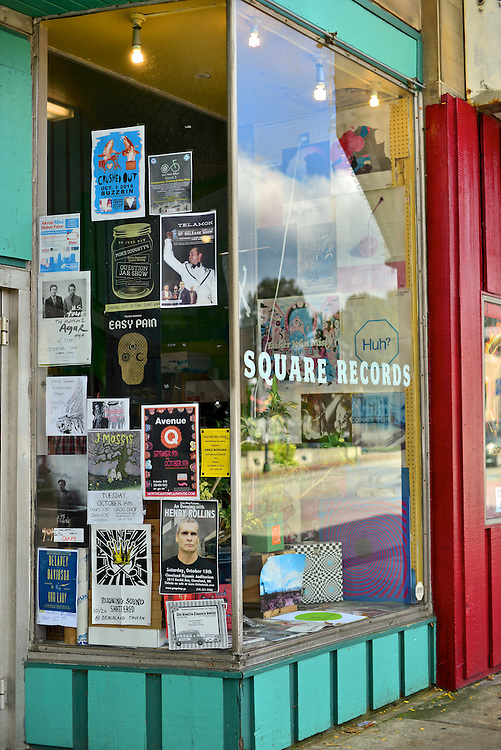 Front window display Square Records.
