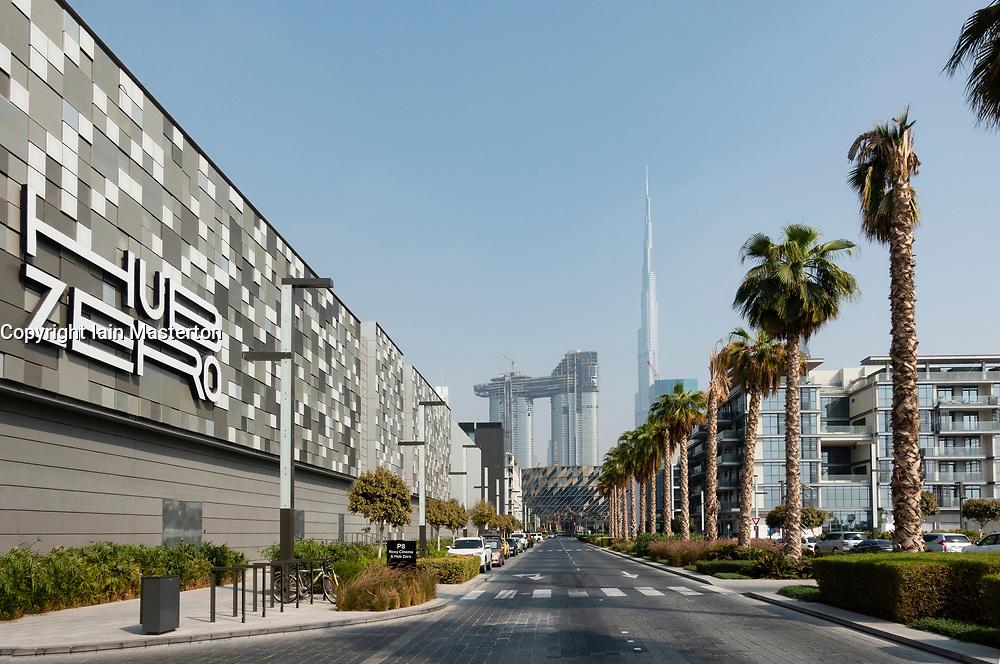 Street at City Walk shopping district in Dubai, UAE