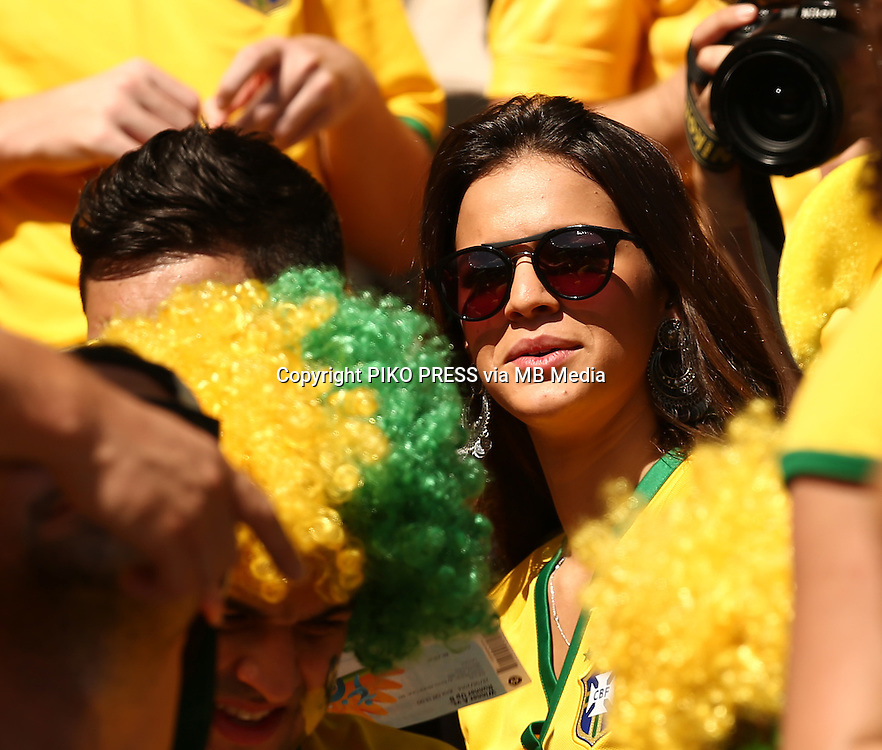 Fifa Soccer World Cup - Brazil 2014 - <br /> BRAZIL (BRA) Vs. CHILE  (CHI) - Round of 16 - Estadio Mineirao Belo Horizonte - Brazil (BRA) - 28 Jun 2014 <br /> Here Bruna Marquezine. Girlfriend of  Brazilian player Neymar<br /> &copy; PikoPress