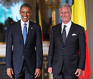 President Obama Meets King Philippe, Royal Palace, Brussels