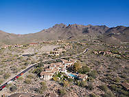 Aerial drone real estate photography, Silverleaf, Scottsdale, AZ