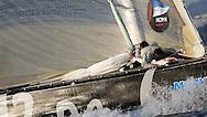 FRANCE, Nice, 21st November 2009, Louis Vuitton Trophy, Day 14, Semi Final Day 3, TEAMORIGIN vs Azzurra, Race 3, Julien Cressant, Mid Bow and Matt Mitchell, Bow, TEAMORIGIN.