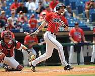 Mississippi's Matt Snyder bats vs. South Carolina during the Southeastern Conference tournament at Regions Park in Hoover, Ala. on Wednesday, May 26, 2010. Ole Miss won 3-0.
