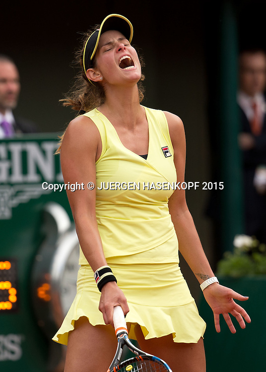 Julia Goerges (GER) reagiert veraergert,Emotion<br /> <br /> Tennis - French Open 2015 - Grand Slam ITF / ATP / WTA -  Roland Garros - Paris -  - France  - 28 May 2015.
