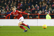 Nottingham Forest forward Lewis Grabban (7) during the EFL Sky Bet Championship match between Nottingham Forest and Bristol City at the City Ground, Nottingham, England on 19 January 2019.