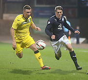 Jim McAlister goes past Chris Mitchell - Dundee  v Queen of the South - SPFL Championship at Dens Park<br /> <br />  - &copy; David Young - www.davidyoungphoto.co.uk - email: davidyoungphoto@gmail.com