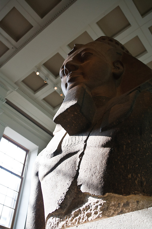 Statue of Ramesses II in the British Museum, London, England.