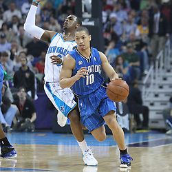 18 February 2009: Orlando Magic guard Tyronn Lue (10) drives past New Orleans Hornets guard Chris Paul (3) during a NBA basketball game between the Orlando Magic and the New Orleans Hornets at the New Orleans Arena in New Orleans, Louisiana.