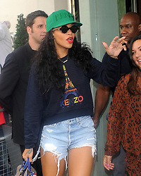 Singer Rihanna leaving a London hotel to attend a meeting in London, UK. 28/08/2012<br />BYLINE MUST READ : GOTCHAIMAGES.COM<br /><br />Copyright by © Gotcha Images Ltd. All rights reserved.<br />Usage of this image is conditional upon the acceptance <br />of Gotcha Images Ltd, terms and conditions available at<br />www.gotchaimages.com