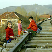 Children in the serbian enclave in Kosovo.  Some children have never been outside the enclave.