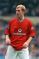 Paul Scholes - Man Utd. Chelsea v Manchester United. FA Charity Shield. Wembley 13/8/00. Credit: Colorsport.