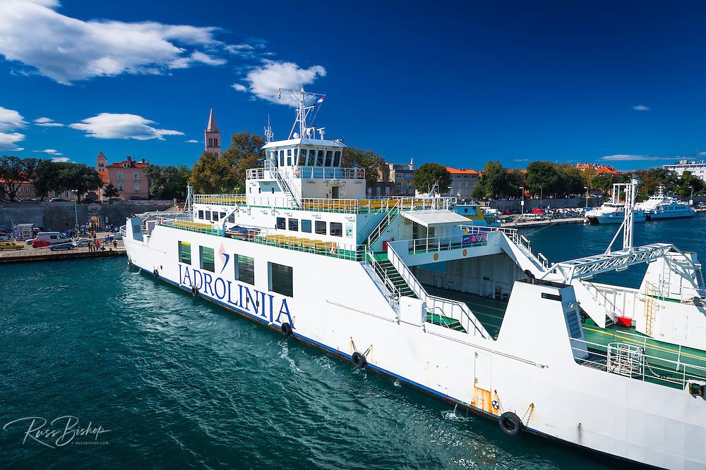 Ferry in Zadar Harbor, Dalmatian Coast, Croatia