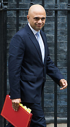 Downing Street, London, October 11th 2016. Government ministers leave the first post-conference cabinet meeting. PICTURED: Communities and Local Government Secretary Sajid Javid