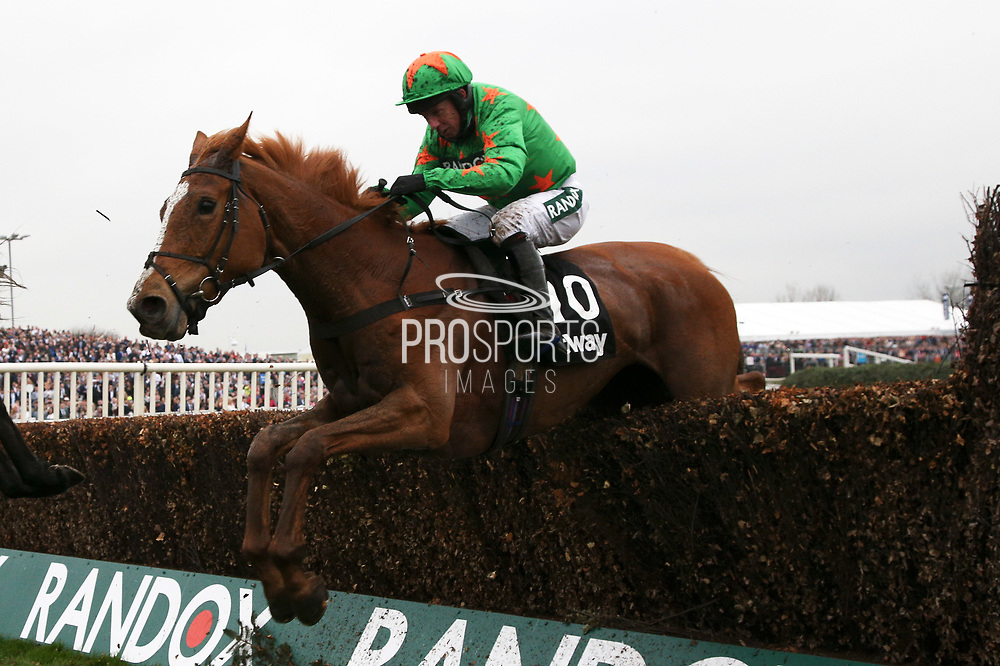 Second place Ms Parfois with Noel Fehily on board clears the last in The Betway Mildmay Novices' Steeple Chase on Ladies Day at Aintree, Liverpool, United Kingdom on 13 April 2018. at Aintree, Liverpool, United Kingdom on 13 April 2018. Picture by Craig Galloway.