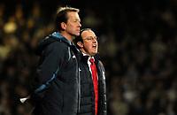 Photo: Alan Crowhurst.<br />West Ham v Liverpool. The Barclays Premiership. 30/01/07. Liverpool manager Rafa Benitez (R).