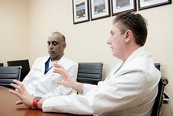 Siemens - University of Miami - Dr. Lencioni, right, is a fellow of Dr. Raj, left.