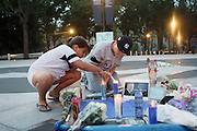 13 July 2010- Bronx, New York- New York Yankees Fans pay tribute to New York Yankees' owner George Steinbrenner who died of a massive heart attack on July 13, 2010 in Tampa, Florida. Steinbrenner is attributed to having made the Yankees the No. 1 franchise in sports history and favorite among fans globally. Terrence Jennings/Sipa