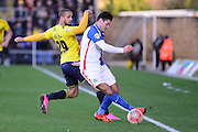 Blackburn Rovers Midfielder Ben Marshall during the The FA Cup Fourth Round match between Oxford United and Blackburn Rovers at the Kassam Stadium, Oxford, England on 30 January 2016. Photo by Dennis Goodwin.
