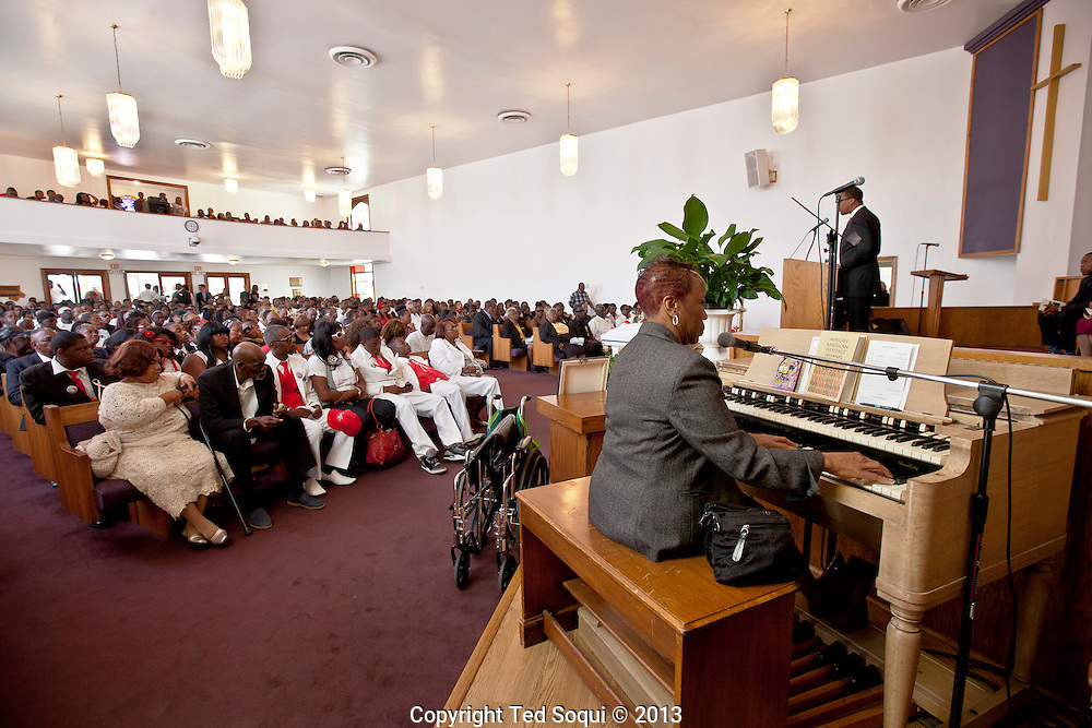Funeral services for Kevin &quot;Flipside&quot; White at Macedonia Church in Watts.<br /> White was shot dead in what is believed to be an unprovoked attack during a gang conflict at Watts' Nickerson Gardens and Jordan Downs housing projects.<br /> Flipside, 44, was a founding member of Watts' first major label hip hop act, O.F.T.B. (Operation From The Bottom).