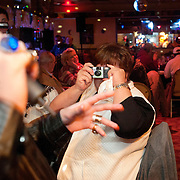 """Fans wait to get a seat to see 14-year-old Taylor Rodriguez perform at his parents Mexican restaurant El Cazador in Bedford, Va.    """"They call me the next Justin Bieber,"""" said Robriguez with a slight grin.  """"But I'm like 'Uh no.  All that's going through my mind is being Elvis.'"""""""