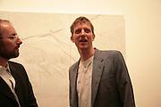 Michael Raedecker, Michael Raedecker  private view.  Hauser and Wirth. 20 September 2007. -DO NOT ARCHIVE-© Copyright Photograph by Dafydd Jones. 248 Clapham Rd. London SW9 0PZ. Tel 0207 820 0771. www.dafjones.com.