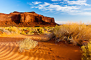 Early morning on Monument Valley, near the rock formations of Totem Pole.
