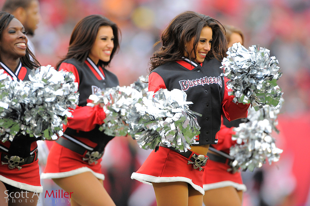 Dec. 19, 2010; Tampa, FL, USA; Tampa Bay Buccaneers cheerleaders during the Bucs 23-20 overtime loss to the Detroit Lions at Raymond James Stadium. ..©2010 Scott A. Miller