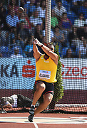 Mostafa Elgamel aka Mostafa Hicham Al-Gamal (EGY) places fourth in the hammer throw at 243-6 (74.22m) during the IAAF Continental Cup 2018 at Mestky Stadion in Ostrava, Czech Republic, Sunday, Sept. 9, 2018. (Jiro Mochizuki/Image of Sport)