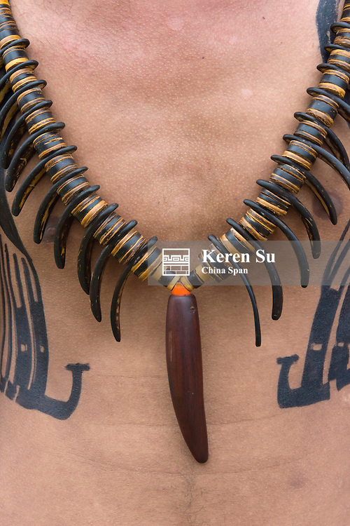 Yapese man with necklace at Yap Day Festival, Yap Island, Federated States of Micronesia