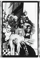 March 1993:  A group portrait of the Blacklips Performance cult, an avant-garde drag theater troupe based in New York City's Lower East Side, at the Pyramid Club. The troupe was active from summer 1992 to spring 1995.  The troupe was originally founded in the summer of 1992 by Antony Hegarty, Johanna Constantine and Psychotic Eve.  Antony might be in this picture, its hard to tell.