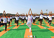 Indian PM Narendra Modi Participates In Yoga Day