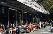 Deutschland Germany Hessen.Hessen, Wiesbaden.Cafe Lumen am Rathaus., cafe Lumen near guild hall...