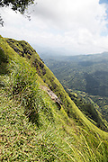 Steep mountain side landscape Ella, Badulla District, Uva Province, Sri Lanka, Asia