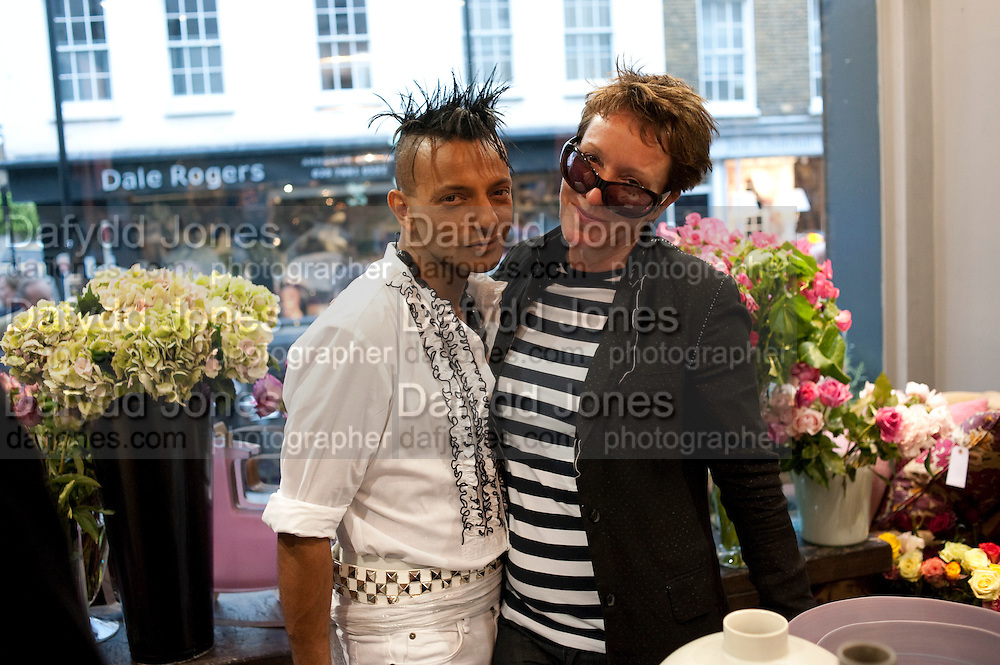 LOUIS MARIETTE; NICKY TIBBLES OF  WILD AT HEART, The Pimlico Road Summer party. London SW1. 9 June 2009